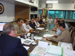 O Conseg Ilhota integrou a comitiva regional promovida da CISP na audiência com Secretário de Estado de Segurança Pública do Estado de Santa Catarina, César Augusto Grubba