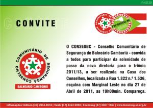 Convite Posse Conseg Balneário Camboriú