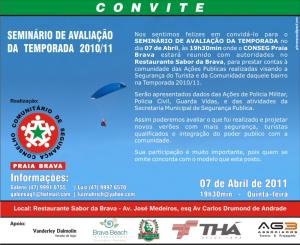 Convite do Conseg Praia Brava