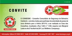 Convite Posse da Nova Diretoria do Conseg de BC