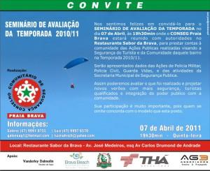 Convite Seminário de Avaliação do Conseg Praia Brava