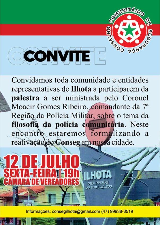 CONVITE REUNIÃO PALESTRA CONSEG 12072019 - MODELO CARTAZ