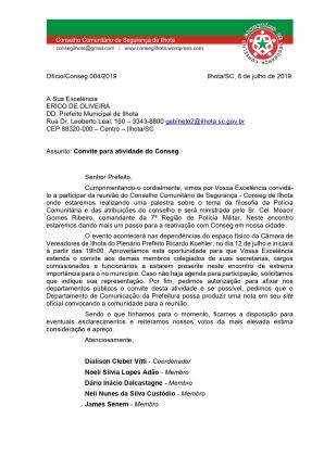OFÍCIO CONSEG 04-PREFEITO ILHOTA