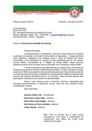 OFÍCIO CONSEG 10-ASSISTÊNCIA SOCIAL